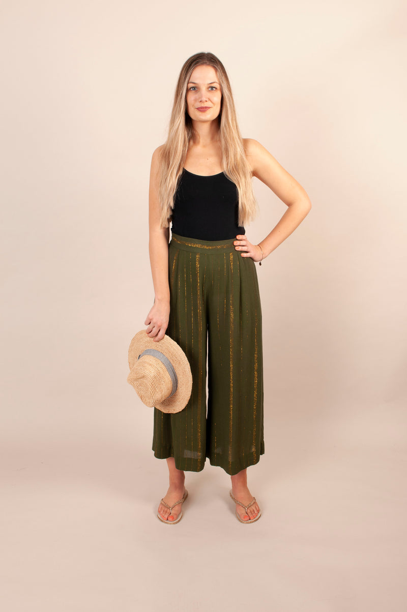 Lottie Trousers - Khaki