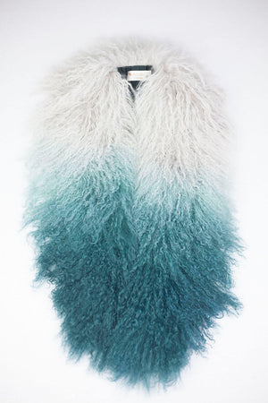 Magda Sheep Skin scarf - Teal Mix