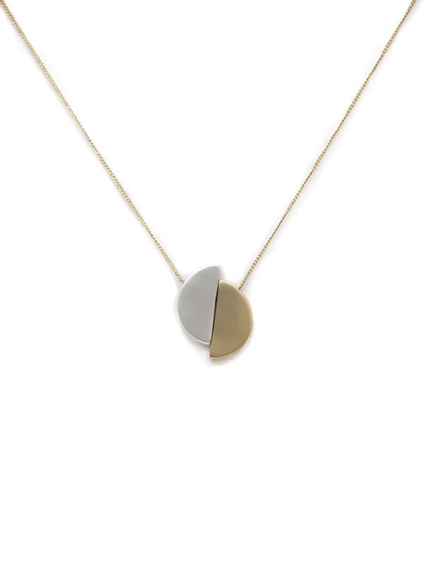 Nadia Two Half Moon Necklace