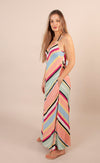 Rainbow Stripe Bias Dress