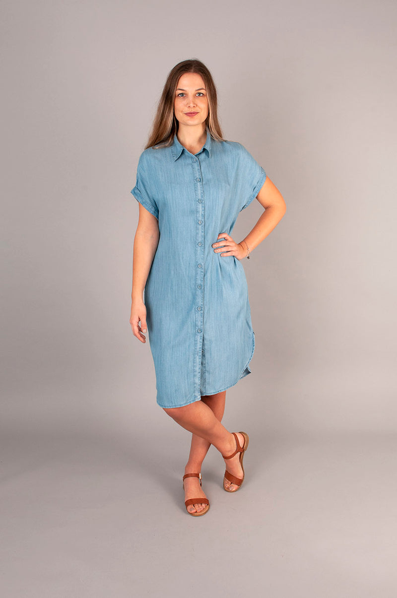 Reagan Shirt Dress - Tencel Denim