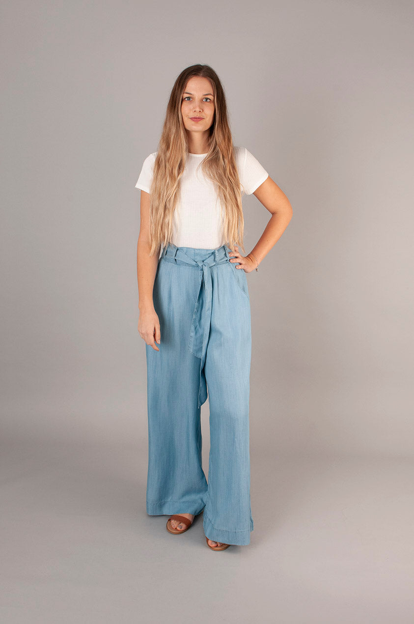 Stella Trousers- Tencel Denim