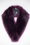 Tilly Faux Fur Scarf - Burgandy