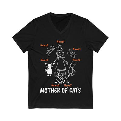 "Art Your Cat 7 Cats (Custom Names) - ""Mother/Father Of Cats"" - T-Shirt/Hoodie"