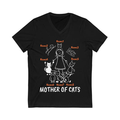 "Art Your Cat 8 Cats (Custom Names) - ""Mother/Father Of Cats"" - T-Shirt/Hoodie"