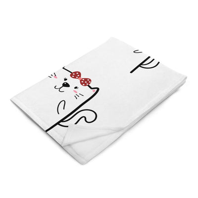 Art Your Cat Cartoon Love Cats - Valentine's Blanket