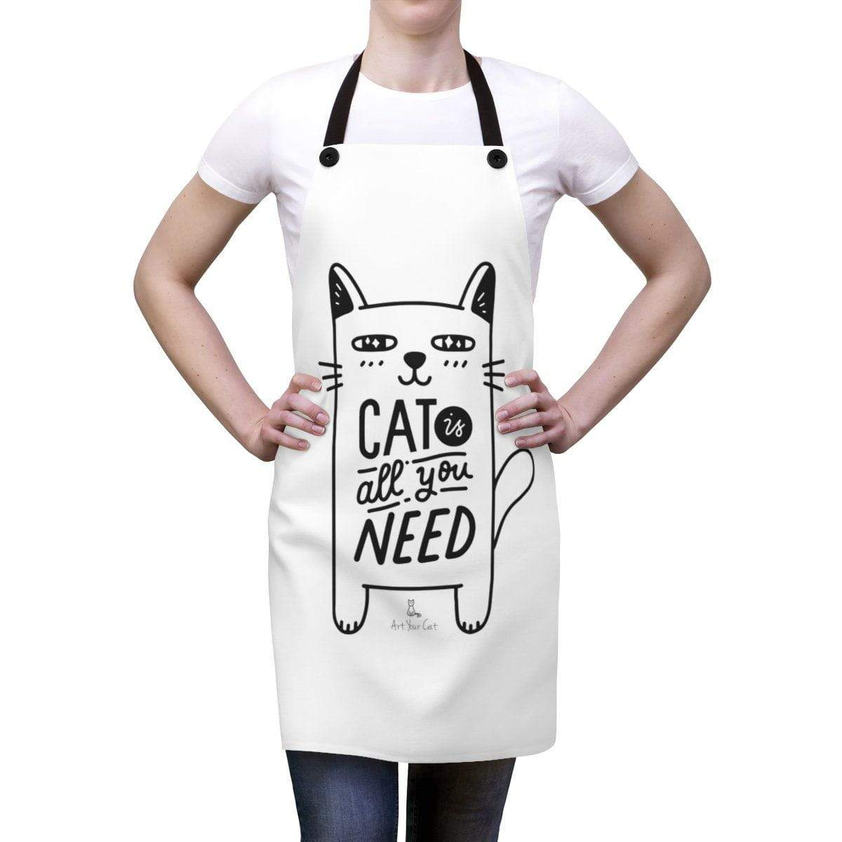 Art Your Cat Cat is All You Need Apron
