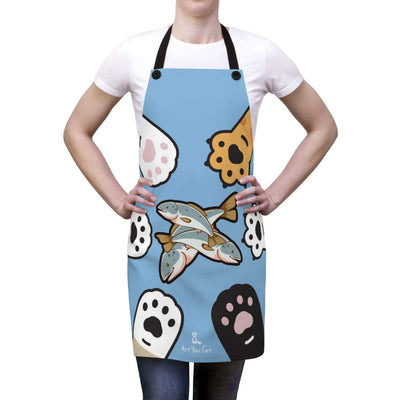 Art Your Cat Cat Paws Apron