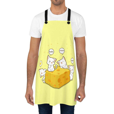Art Your Cat Cats and Cheese Apron