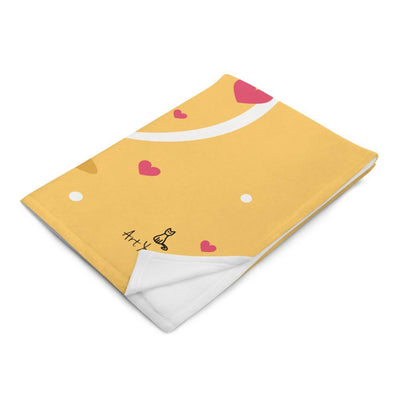 Art Your Cat Cats Happy Valentine's Day Blanket