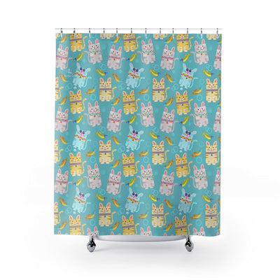 Art Your Cat Colorful Cute Cats Shower Curtain