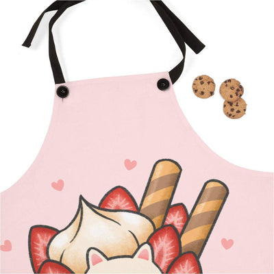 Art Your Cat Creamy Strawberry Cat Apron