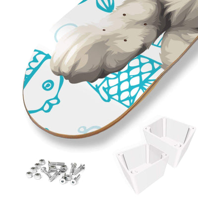 Art Your Cat Custom Designed 3 Skateboard Wall Art