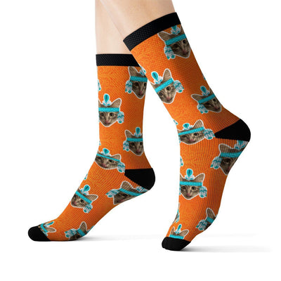 Art Your Cat Custom Native American Cat Socks