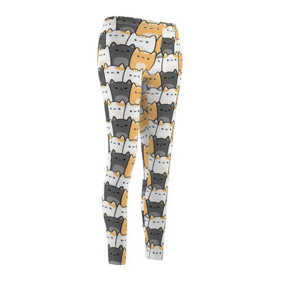 Art Your Cat Cute Cats Doodle Leggings