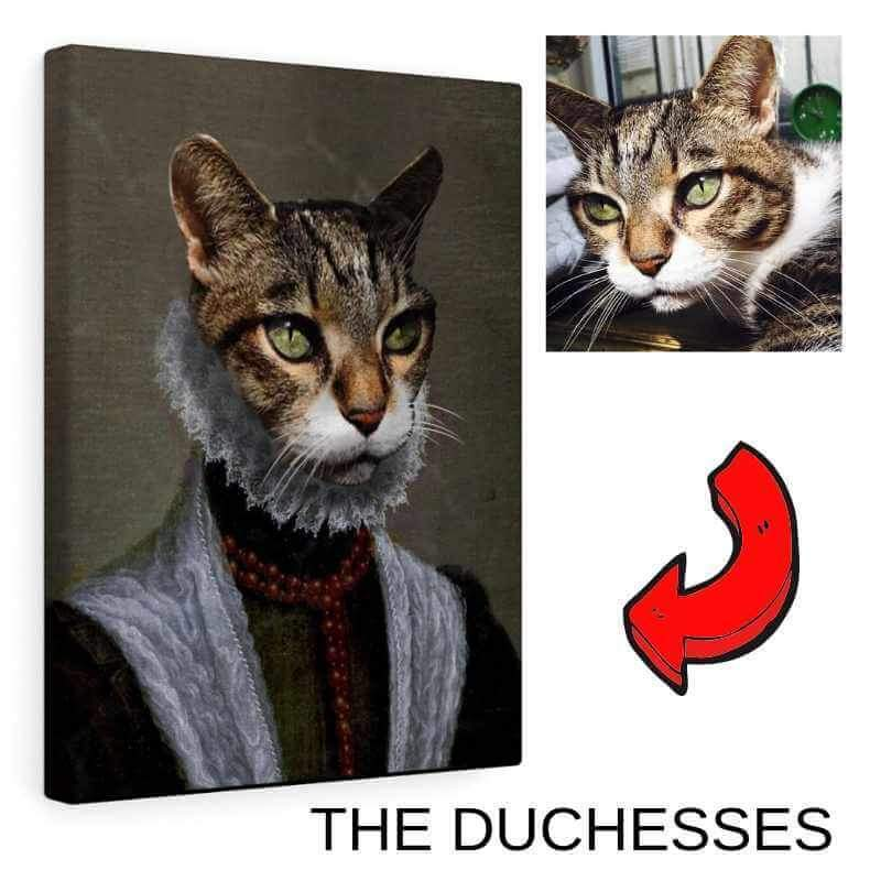 Female Royal Portrait - Custom (Your Pet) Canvas Art
