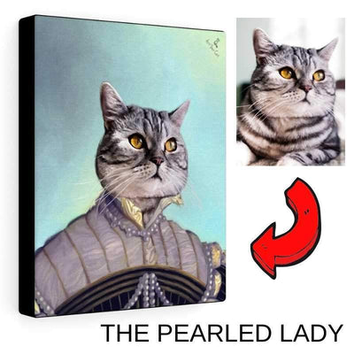 Art Your Cat Female Royal Portrait - Custom (Your Pet) Canvas Art