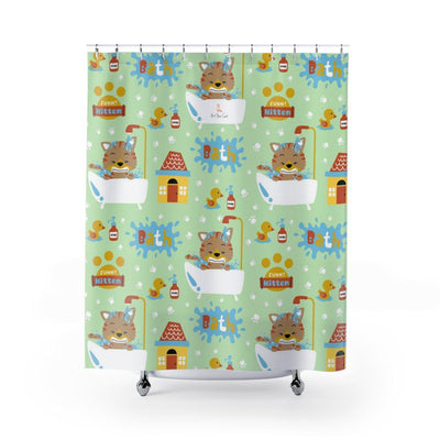Art Your Cat Funny Kitten Bath Shower Curtain