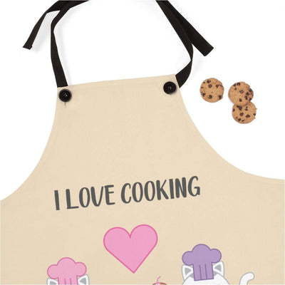 Art Your Cat I Love Cooking Apron
