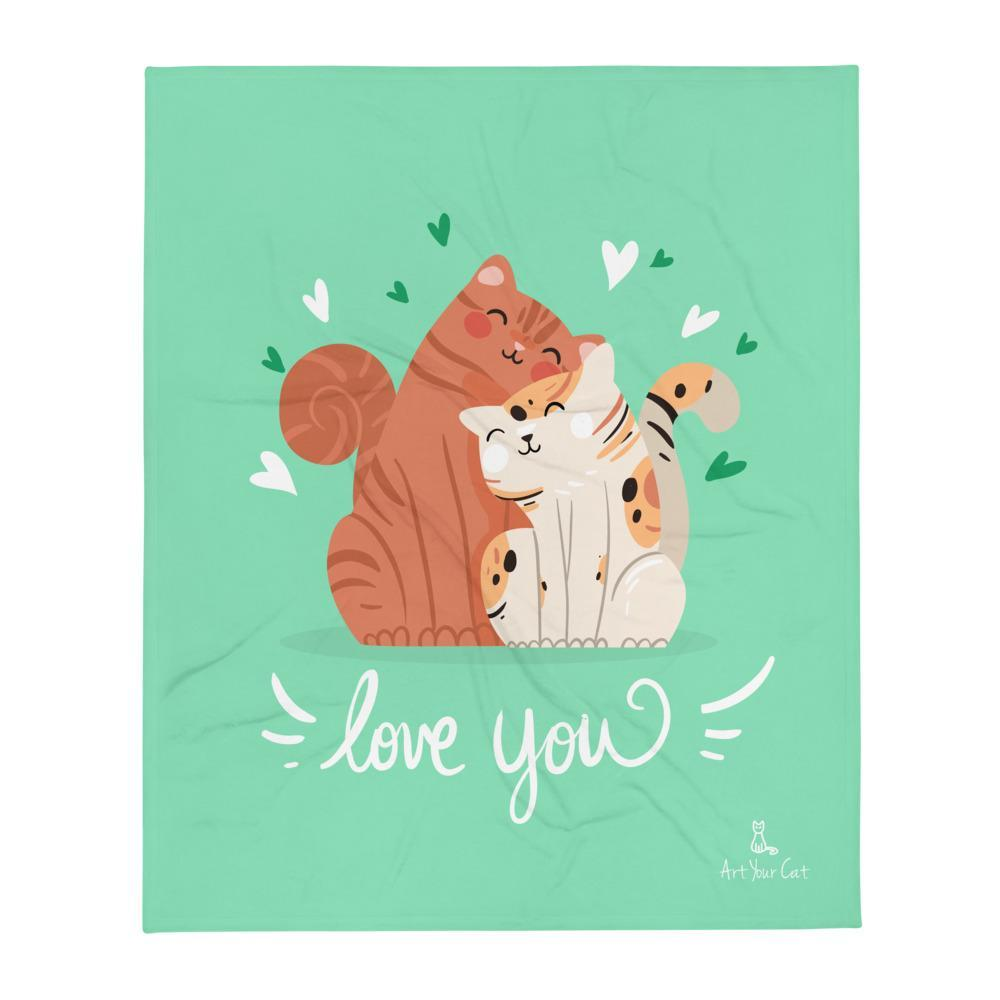 Art Your Cat I Love You - Valentine's Blanket