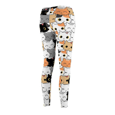 Art Your Cat Kitten Cartoon Doodle Leggings