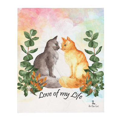 Art Your Cat Love Cats Confession - Valentine's Blanket