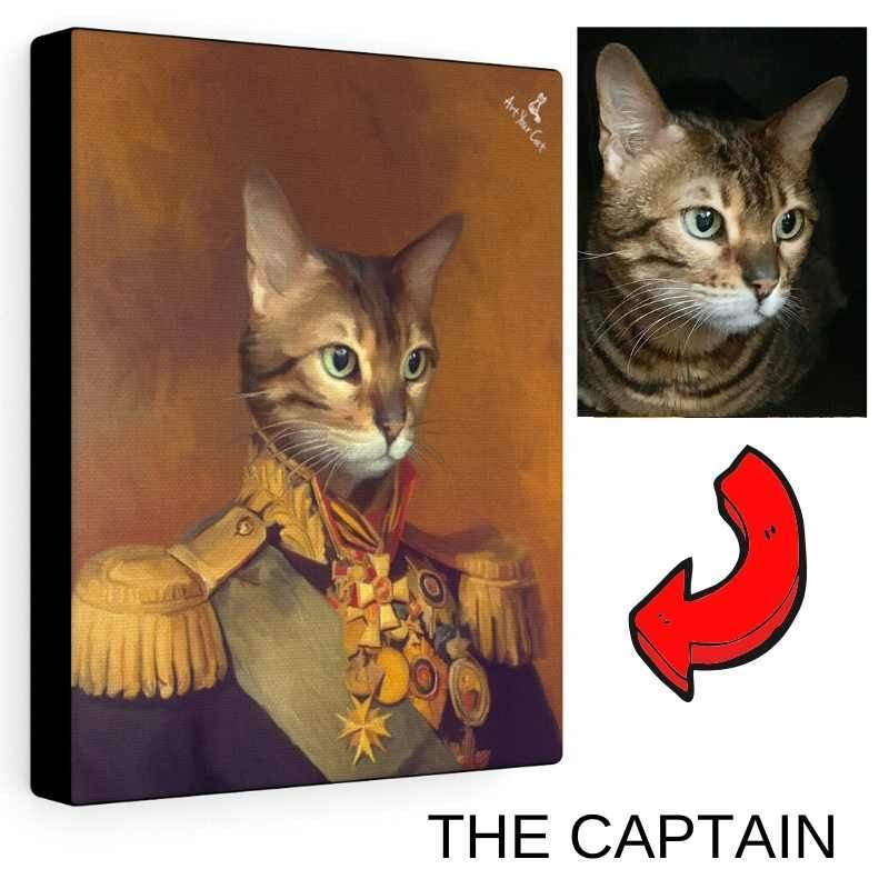 Art Your Cat Male Royal Portrait - Custom (Your Pet) Canvas Art