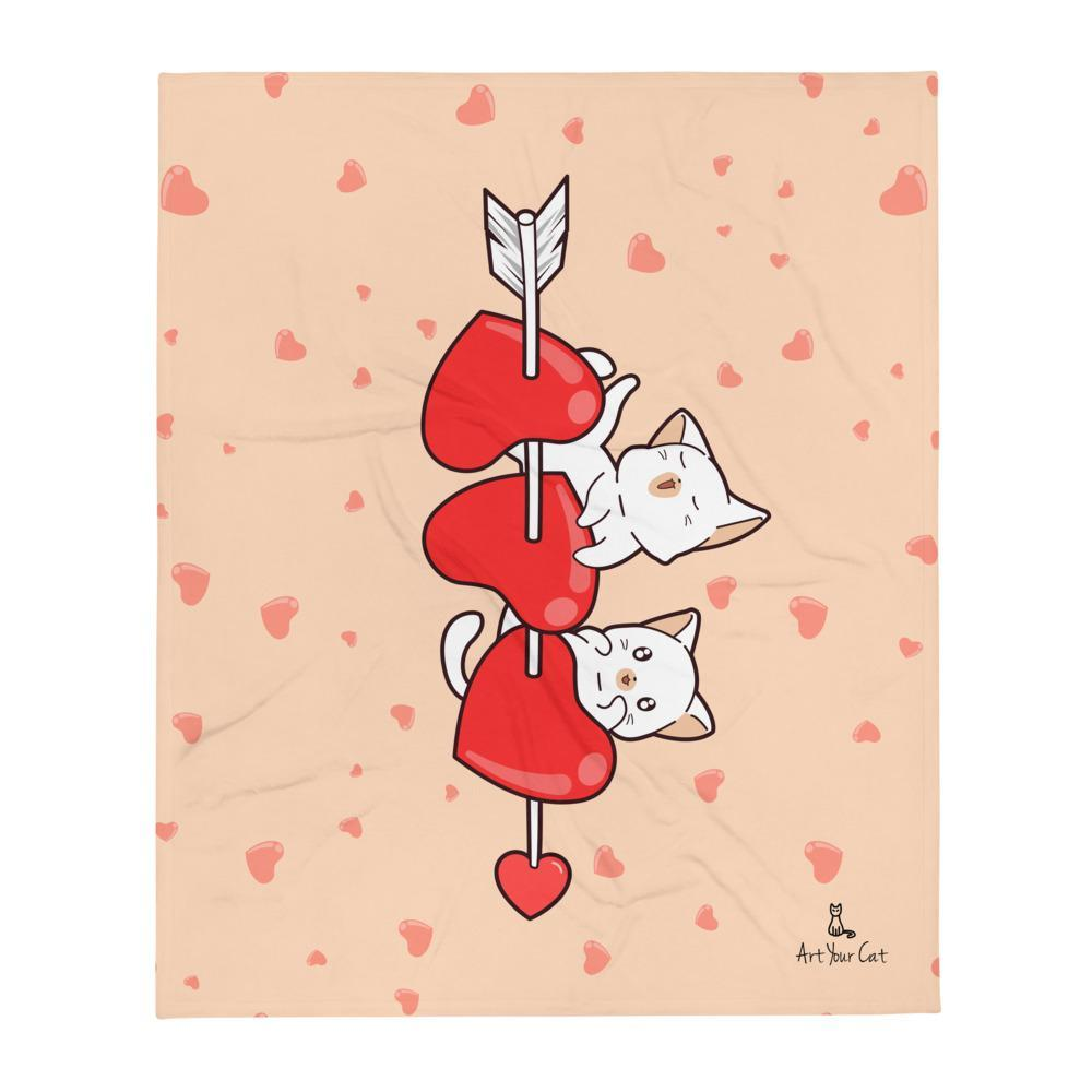 Art Your Cat Meow Struck My Heart Blanket