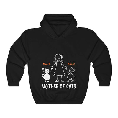 Art Your Cat Mother Of Cats - 2 Cats (Custom Names)