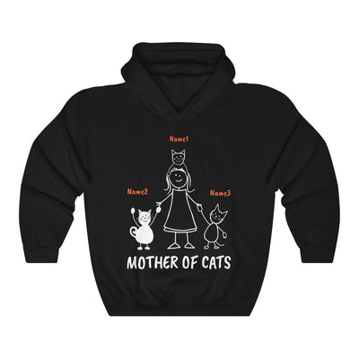 Art Your Cat Mother Of Cats - 3 Cats (Custom Names)