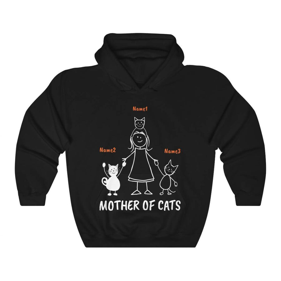 "3 Cats (Custom Names) - ""Mother/Father Of Cats"" - T-Shirt/Hoodie"