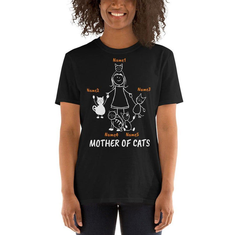 Art Your Cat Mother Of Cats - 5 Cats (Custom Names)
