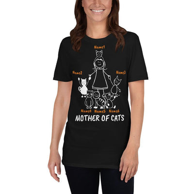 Art Your Cat Mother Of Cats - 6 Cats (Custom Names)
