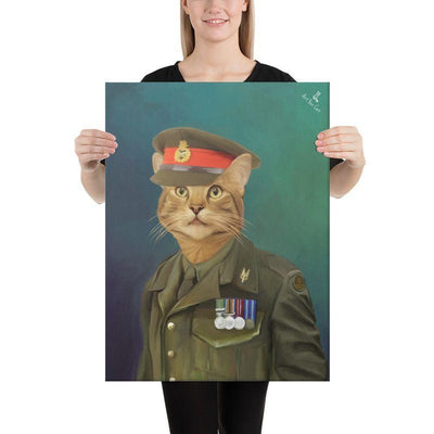 Art Your Cat Old British Soldier- Custom (Your Pet) Portrait