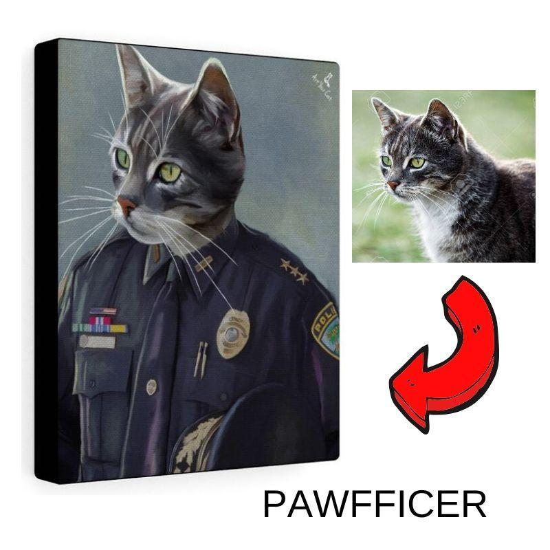 Art Your Cat PAWFFICER - CUSTOM (YOUR PET) PORTRAIT