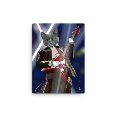 Art Your Cat Rock and Roll- Custom (Your Pet) Portrait