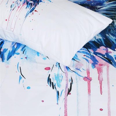 Art Your Cat Space by Pixie Cold - Watercolor Duvet Cover With Pillowcases