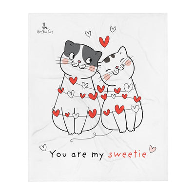 Art Your Cat Sweet Cats Together - Valentine's Blanket
