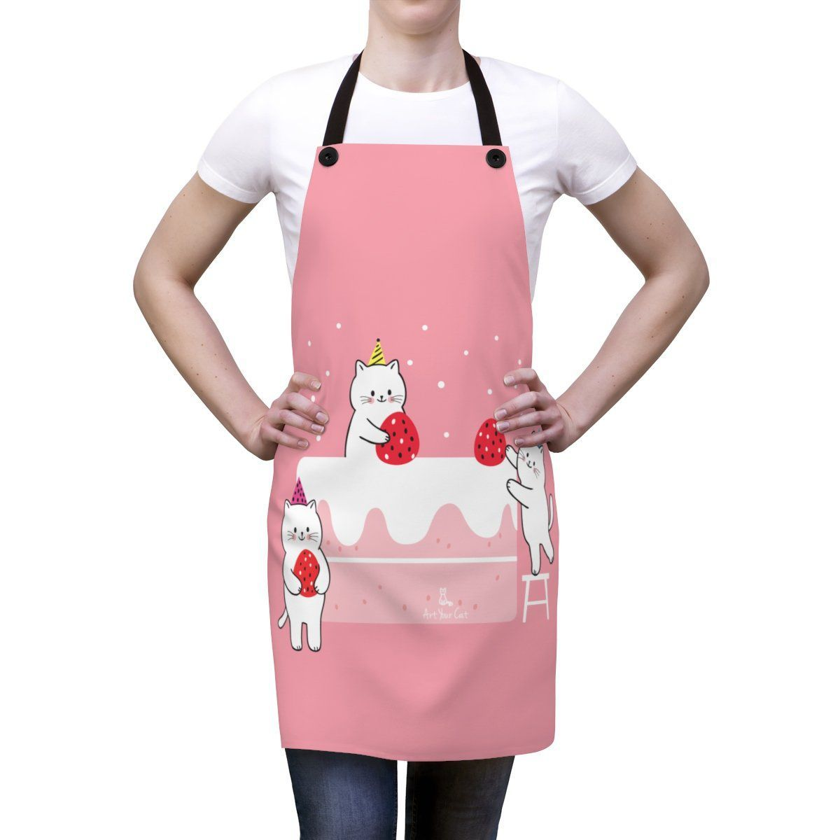 Art Your Cat Sweet Kitties' Strawberry Apron