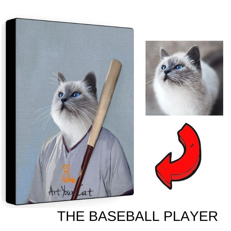 Art Your Cat The Baseball Player - Custom (Your Pet) Portrait
