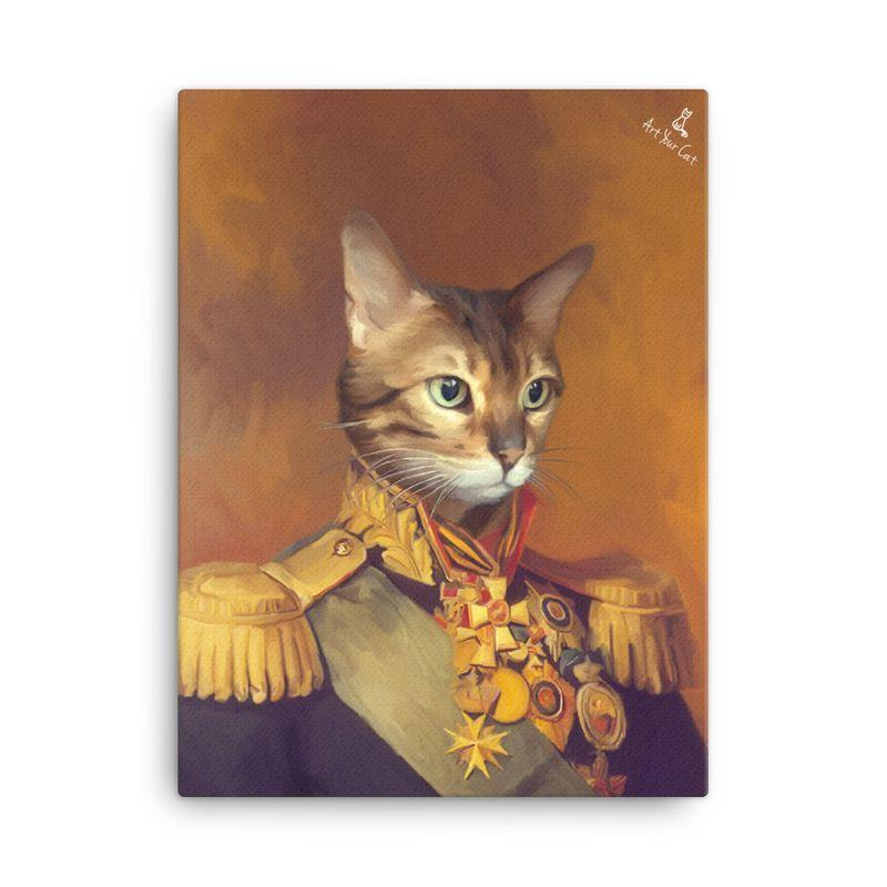Art Your Cat The Captain - Custom (Your Pet) Royal Portrait