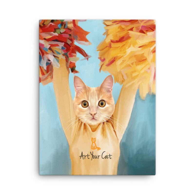 Art Your Cat The Cheerleader - Custom (Your Pet) Portrait