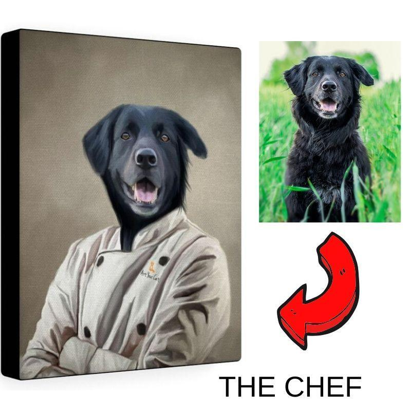 Art Your Cat THE CHEF - CUSTOM (YOUR PET) PORTRAIT