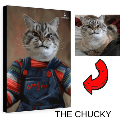 Art Your Cat The chucky - Custom (Your Pet) Halloween Portrait