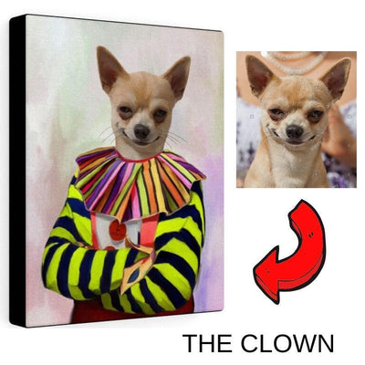 Art Your Cat THE CLOWN - CUSTOM (YOUR PET) PORTRAIT