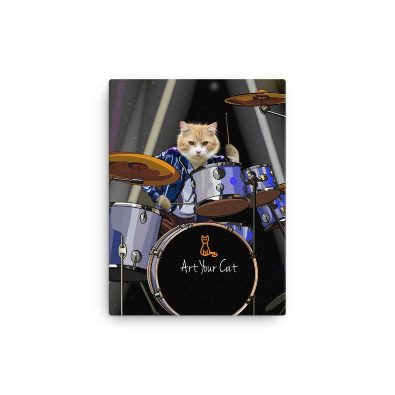 Art Your Cat The Drummer- Custom (Your Pet) Portrait