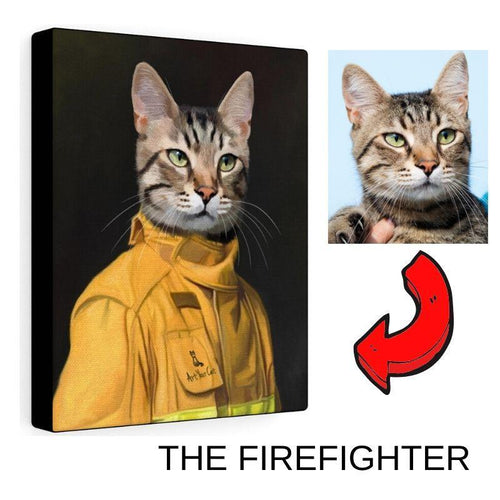 The Firefighter - Custom (Your Pet) Portrait