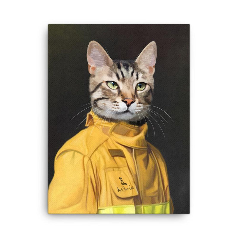 Art Your Cat The Firefighter - Custom (Your Pet) Portrait