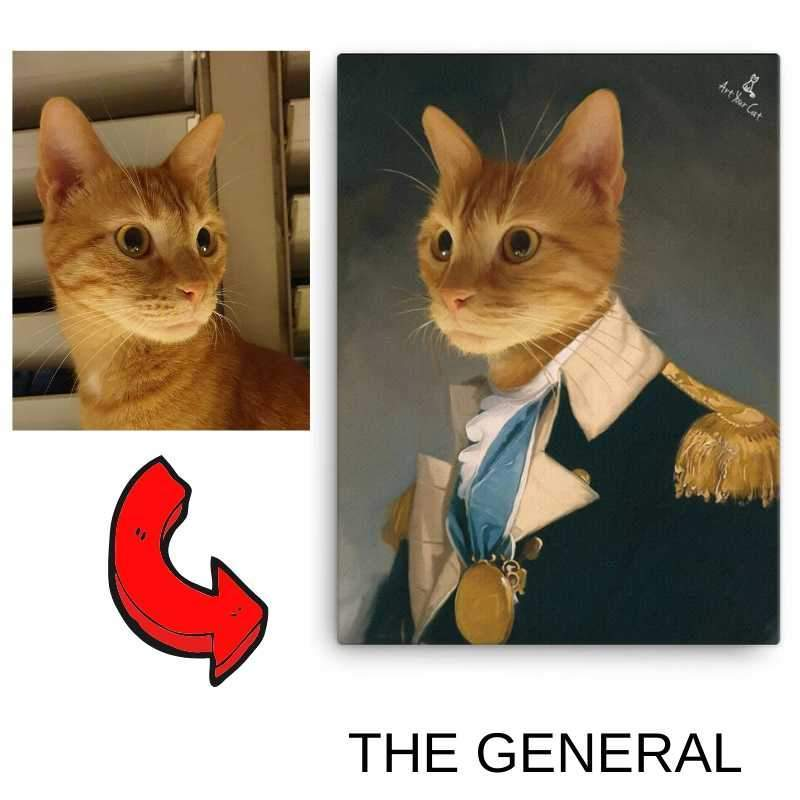 Art Your Cat The General - Custom (Your Pet) Royal Portrait