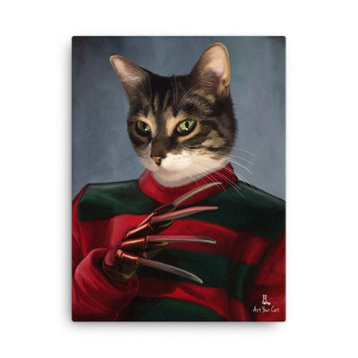 Art Your Cat The krueger - Custom (Your Pet) Halloween Portrait